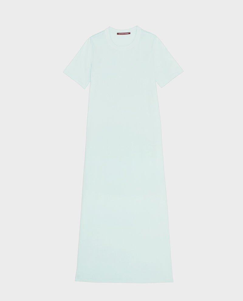 Mercerised cotton maxi dress Blue haze Larosata