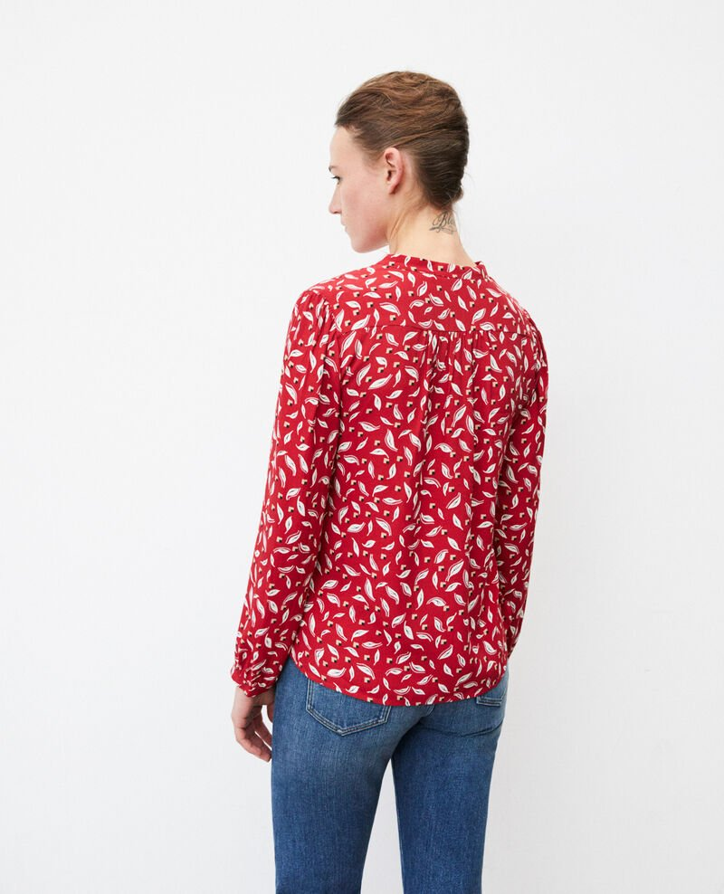 Henley blouse Earth red Gaela