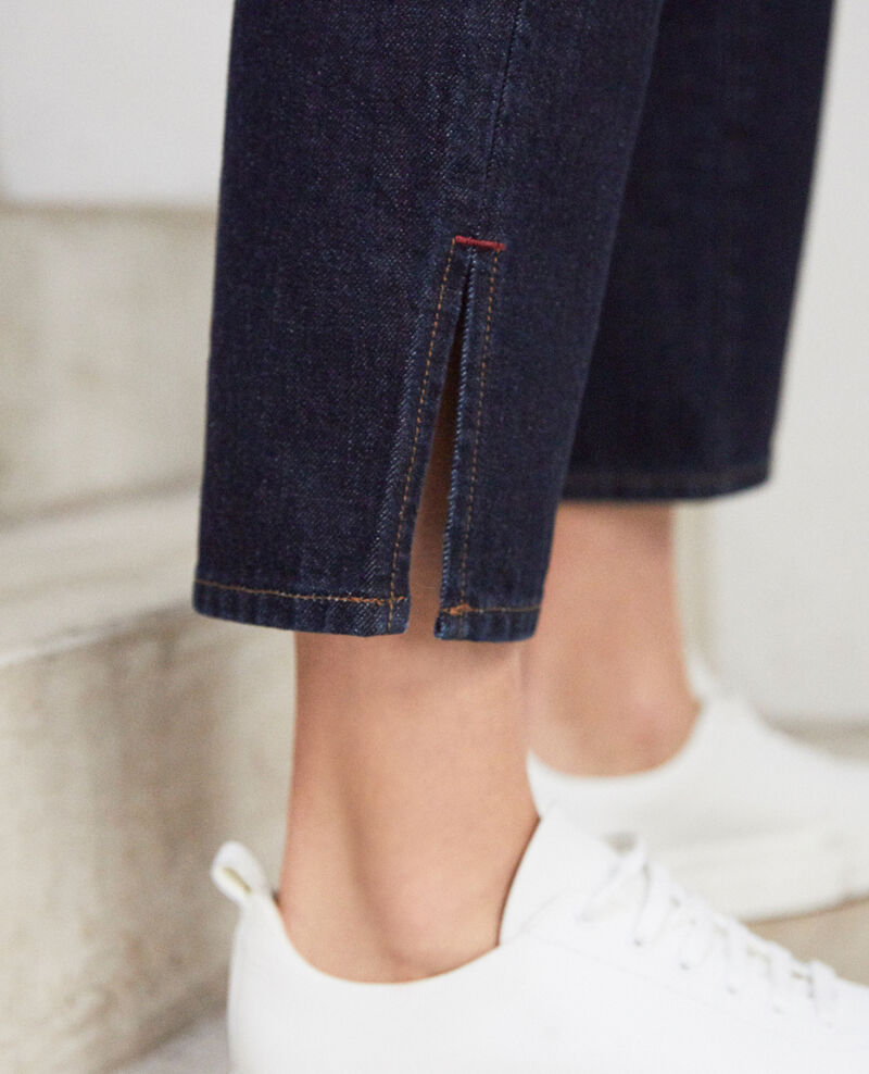 Straight jeans with slits Rinse Istra