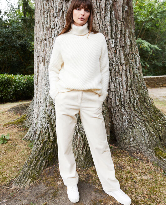 Roll neck jumper OFF WHITE