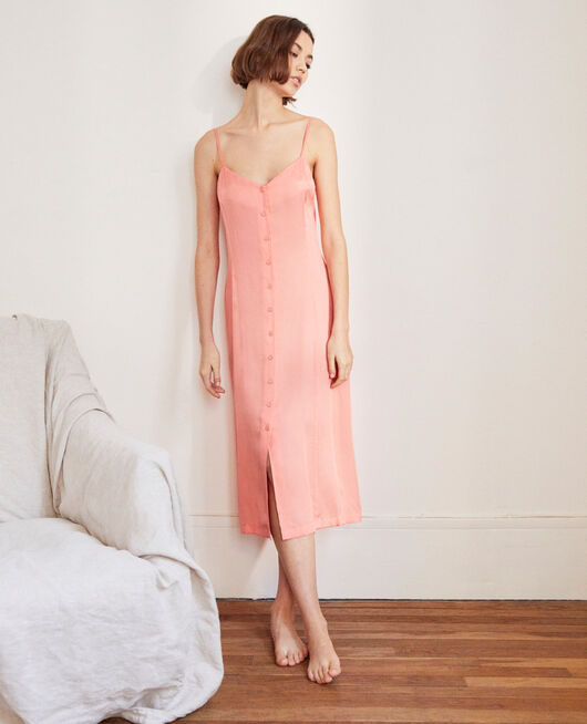 Silk blend dress SALMON PINK