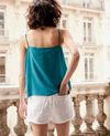 Silk vest Pacific green Fidelio