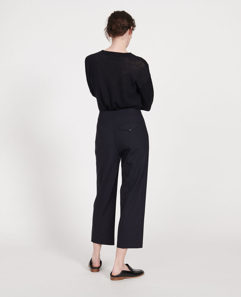 Wool trousers Dark navy Lanethi