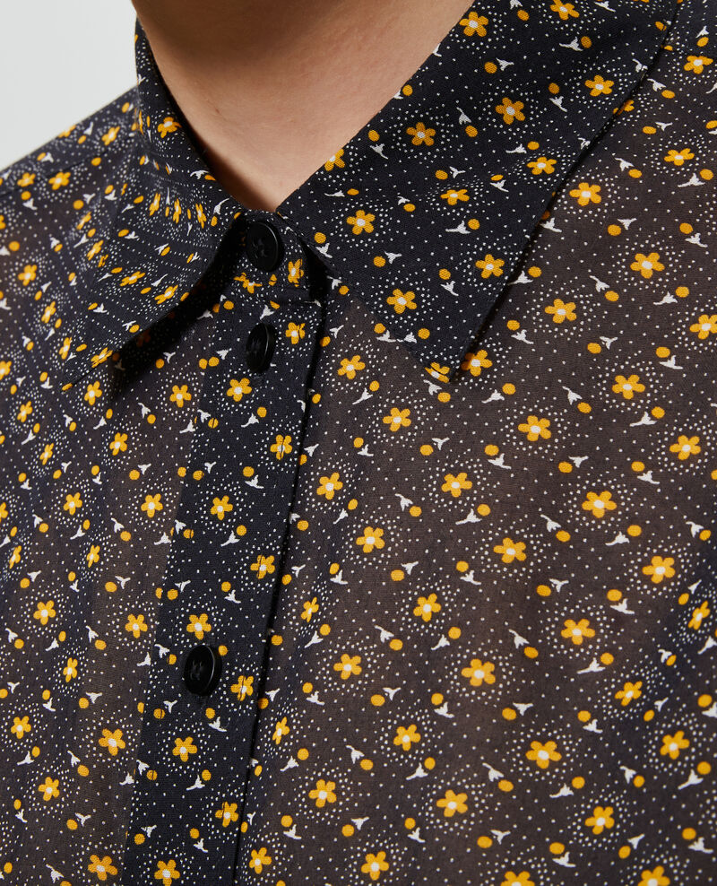 Printed cotton shirt Daisy old gold Nandes