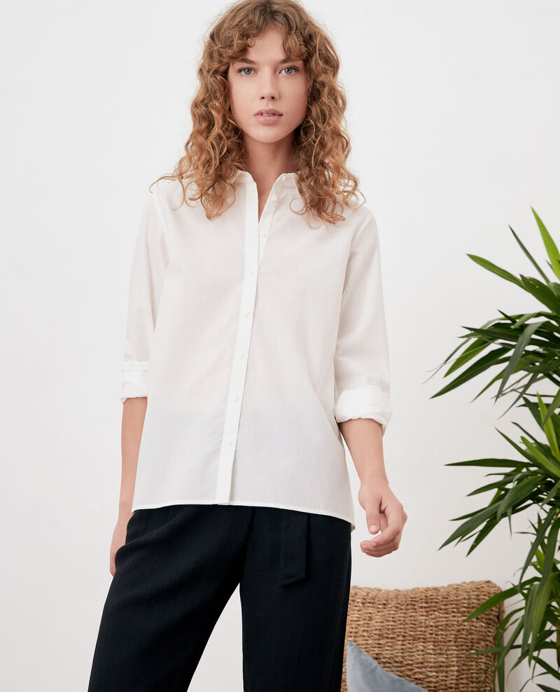 Shirt with pleated back Blanc Fratrie