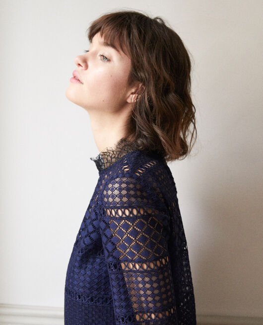 Openwork lace blouse PEACOAT