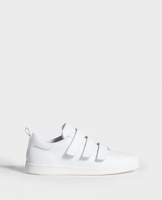 Leather rip tape sneakers OPTICAL WHITE