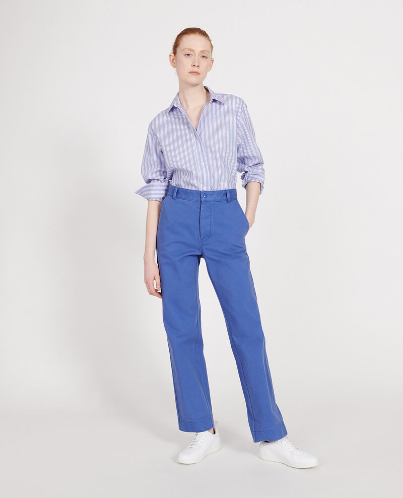 Trousers with pockets Amparo blue Laora