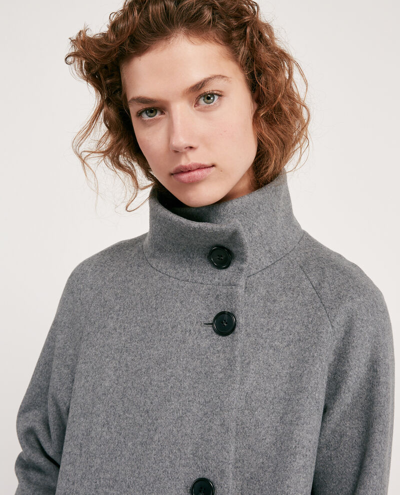 Wool coat Medium heather grey Dyera