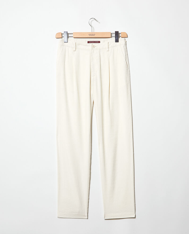 Carrot trousers Off white Imande