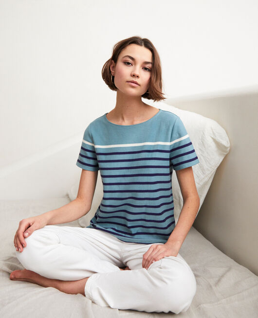 Striped T-shirt BM/NAVY/OW