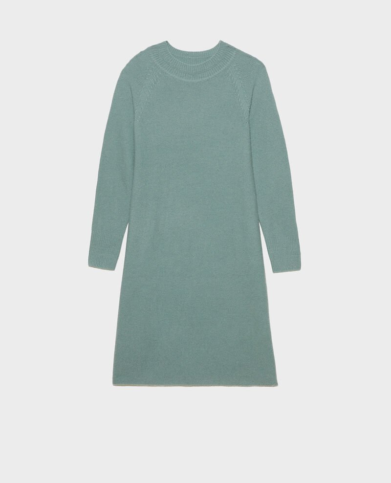 3D cashmere flared jumper dress Chinois green Malroy