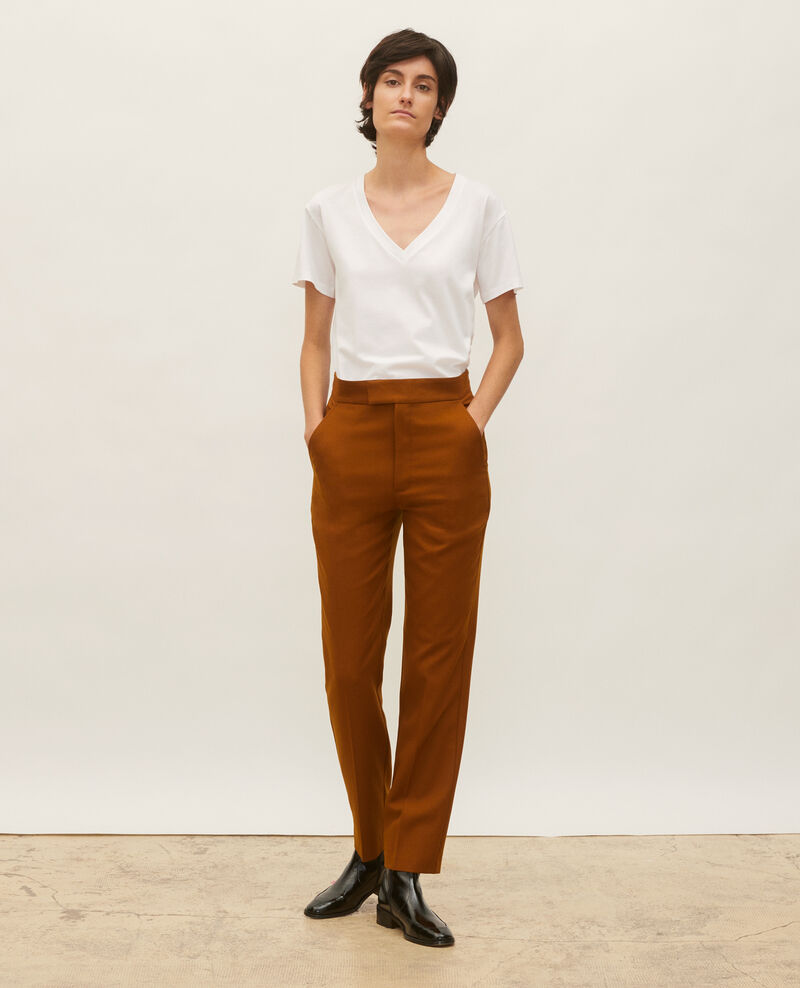 Straight wool boyfriend trousers MARCELLE Monks robe Lisabelle