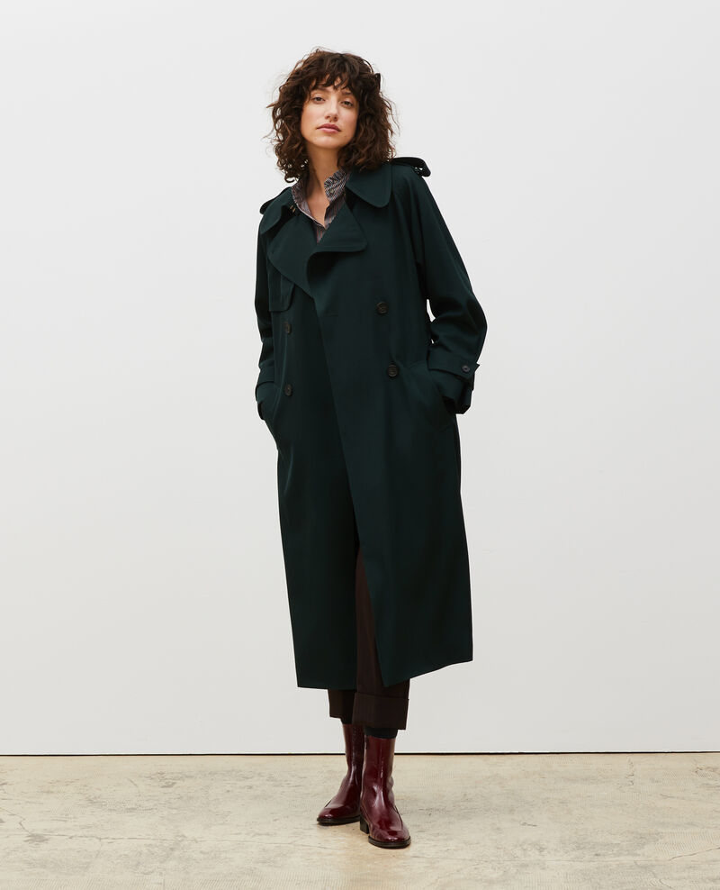Long loose wool trench Scarab Messimy