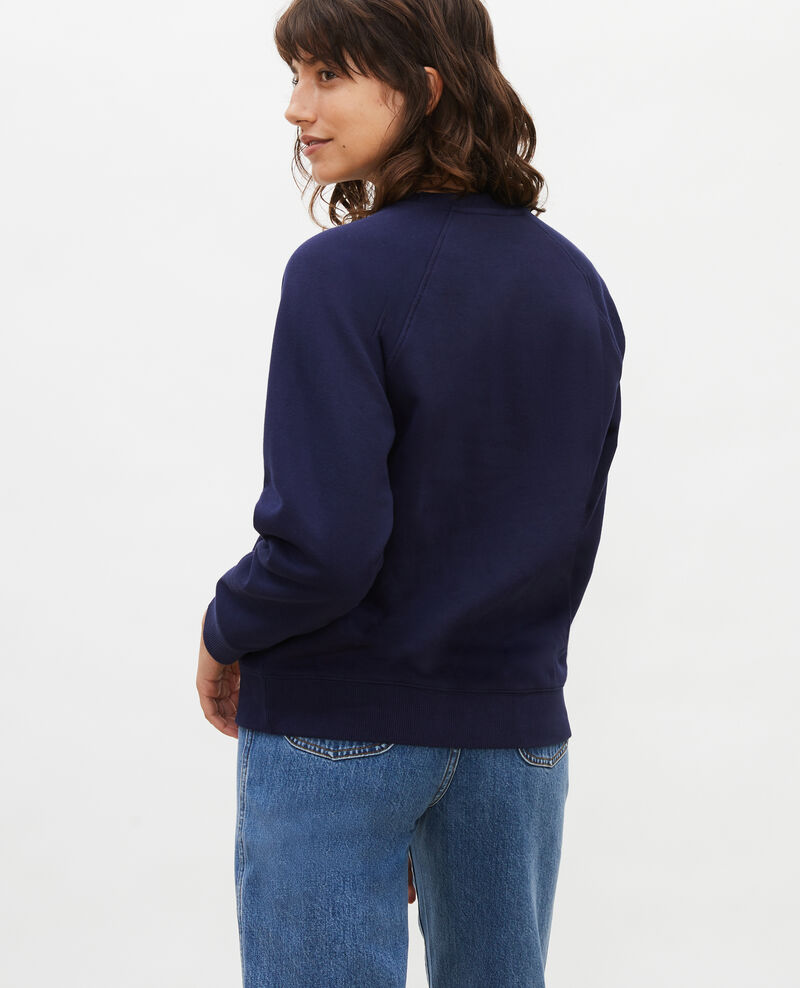 Fleece sweatshirt Maritime blue Lison