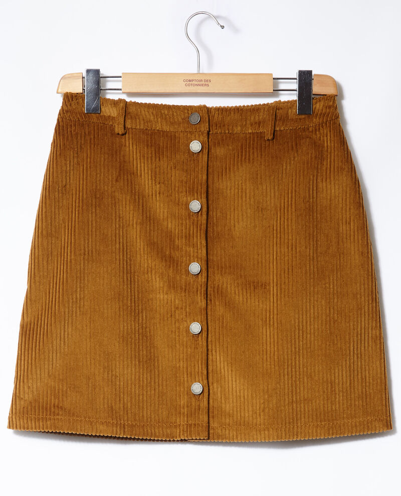 Ribbed corduroy skirt Golden brown Gammon