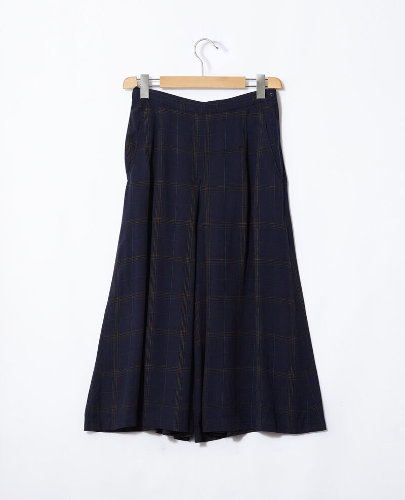 Flared culotte skirt Blue Gickey