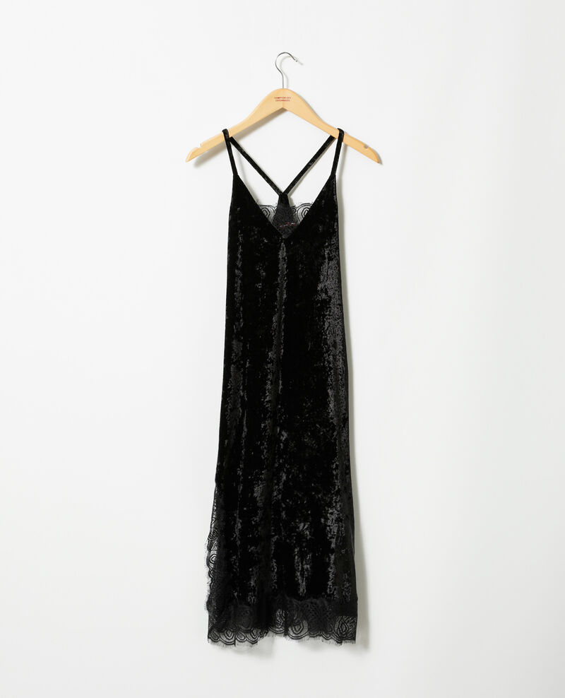 Velvet and lace dress Black Glife