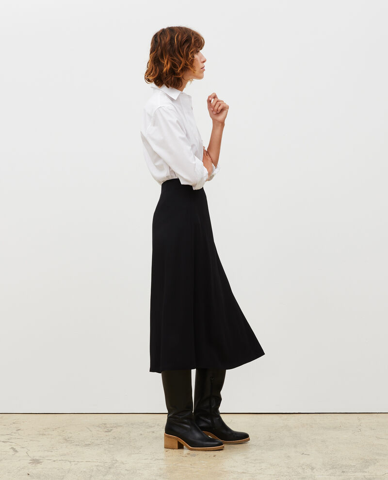 Midi wrap skirt Black beauty Mutz