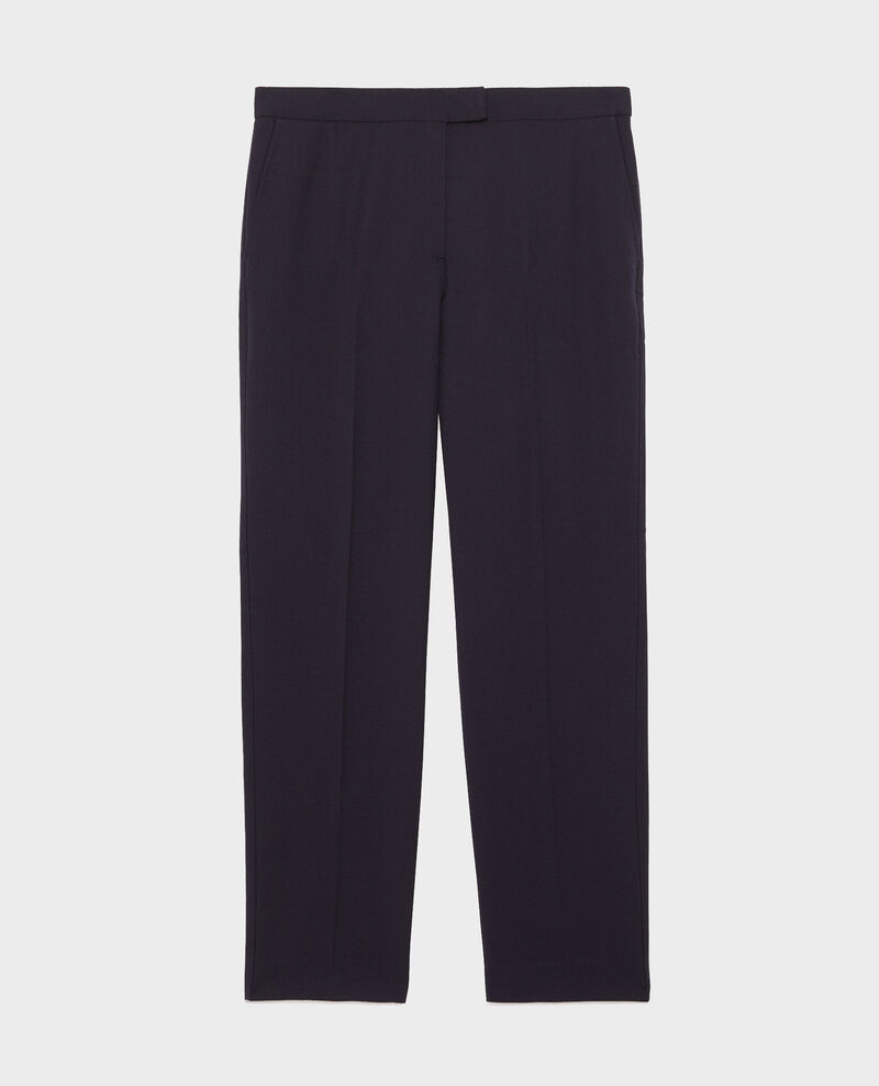 Wool 7/8 cigarette pants MARGUERITE Night sky Moko