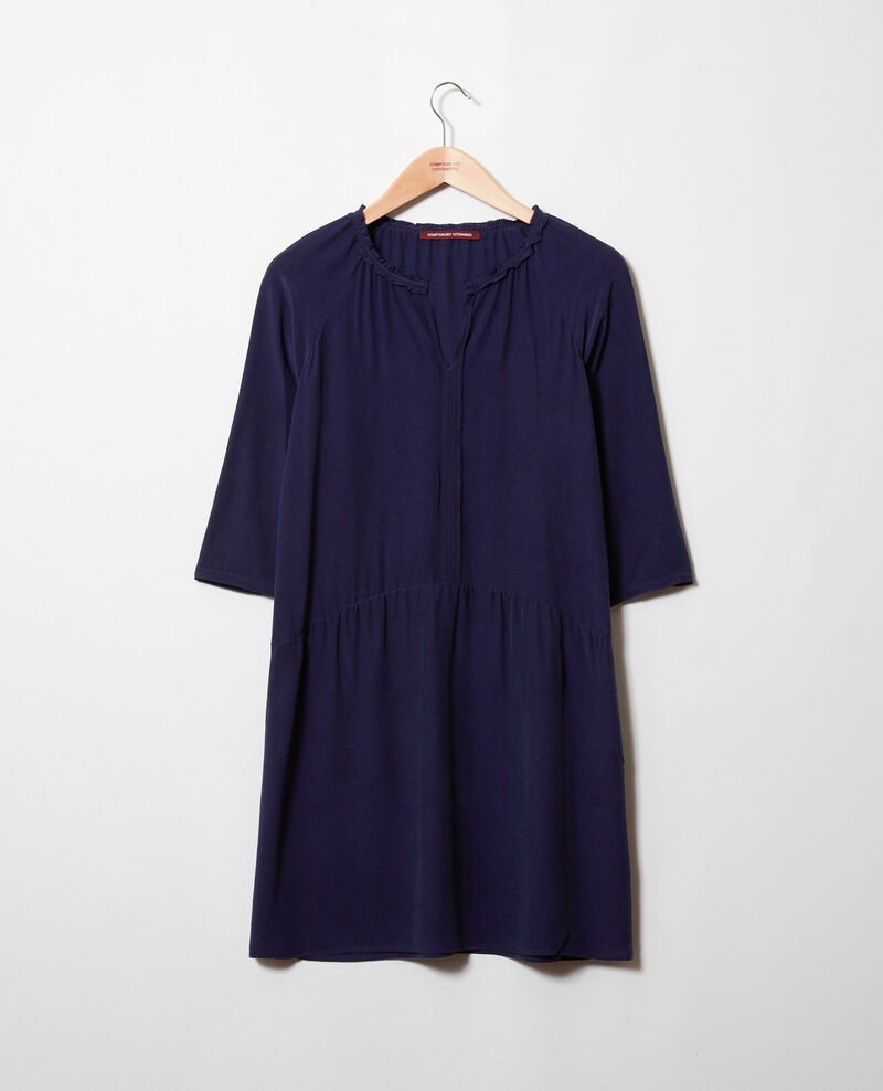 Silk blend dress Evening blue Jeopard