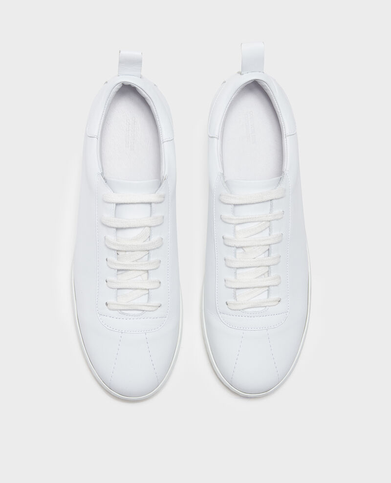 Leather sneakers  Optical white Lead