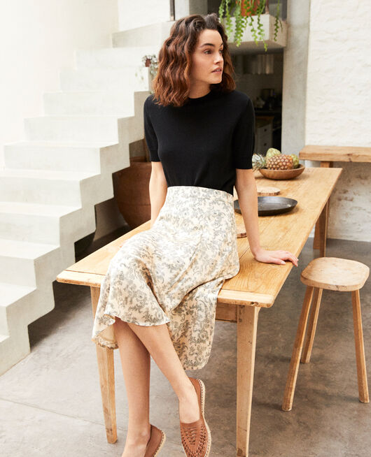 Printed skirt BANDANA LIGHT BEIGE