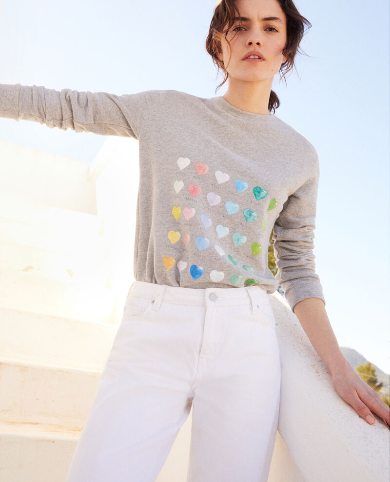 Sweater with heart Heather grey Igamme