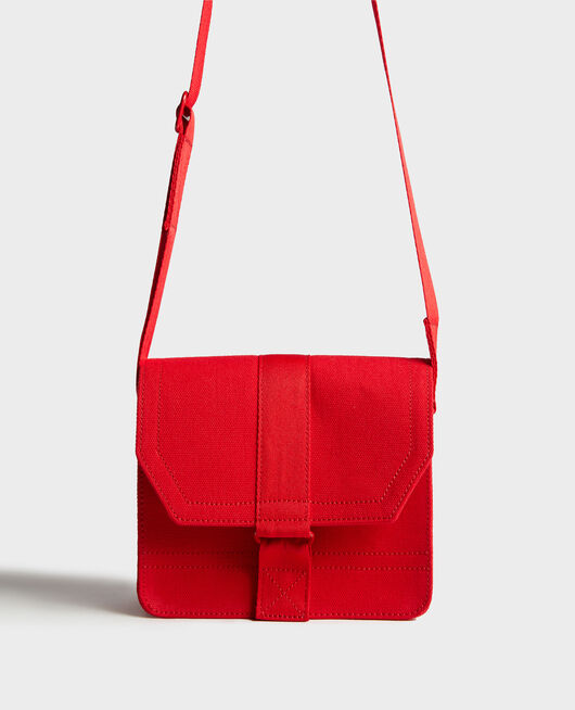 Small cotton bag FIERY RED