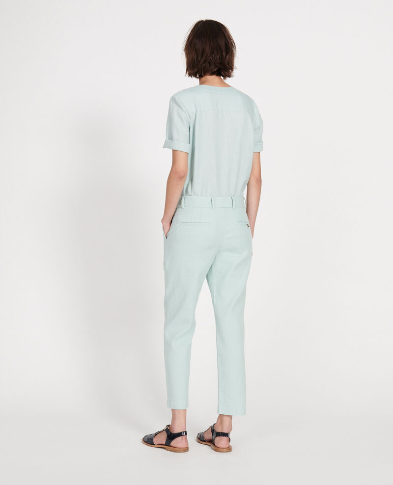 Linen trousers Blue haze Laiguillon