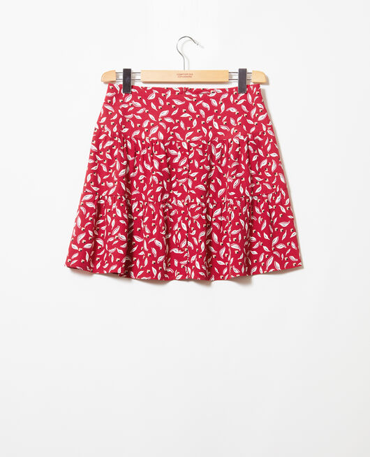 Frilly skirt EARTH RED