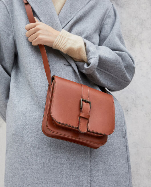 Leather bag CAMEL