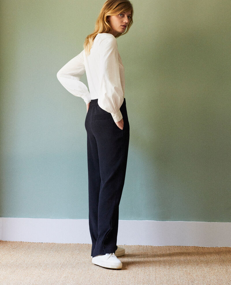 Trousers with button details Noir Jovembre