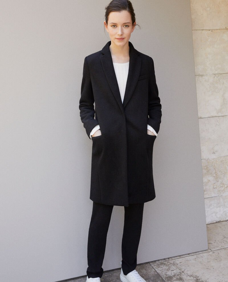 Coat with blazer collar Black 9vexpress