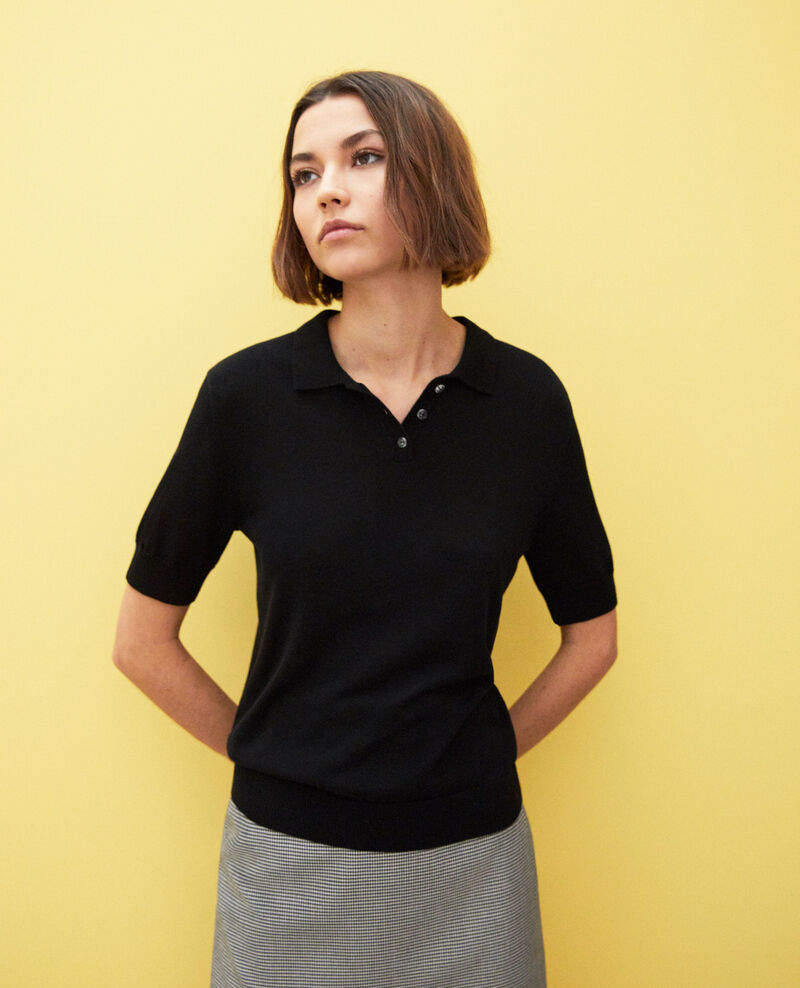 Knit polo Noir Iconera