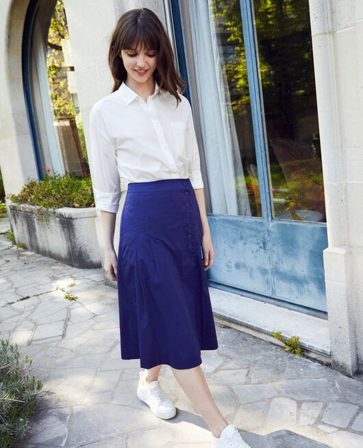Cotton wrapover skirt ASTRAL AURA