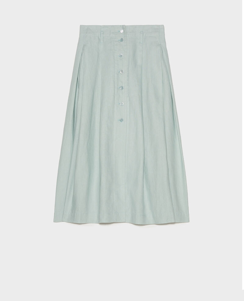 Mid-length linen skirt Blue haze Lorlange