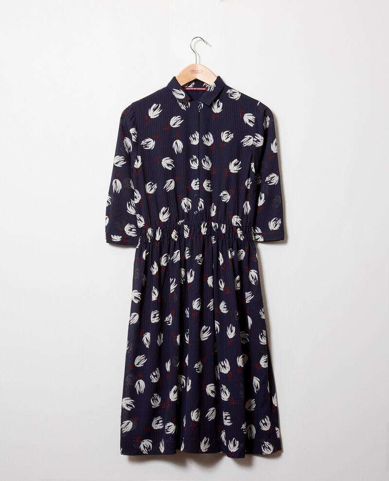Printed shirt dress Tulip evening blue Jaradja