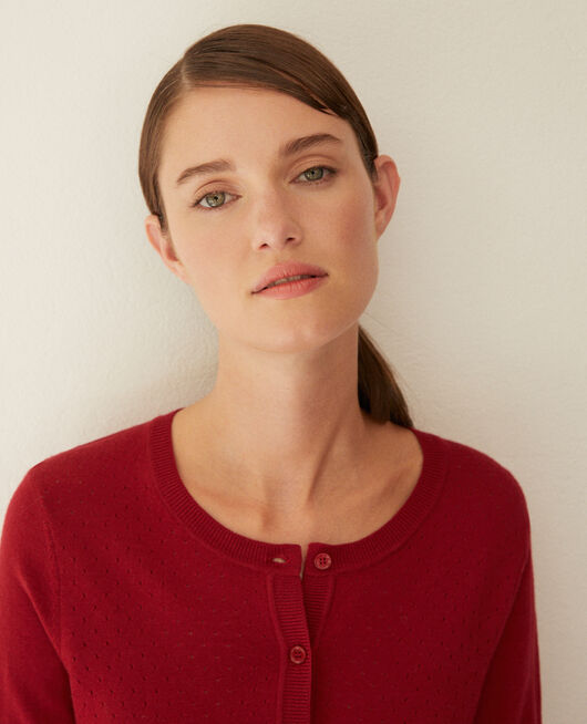 Merino wool cardigan RIO RED