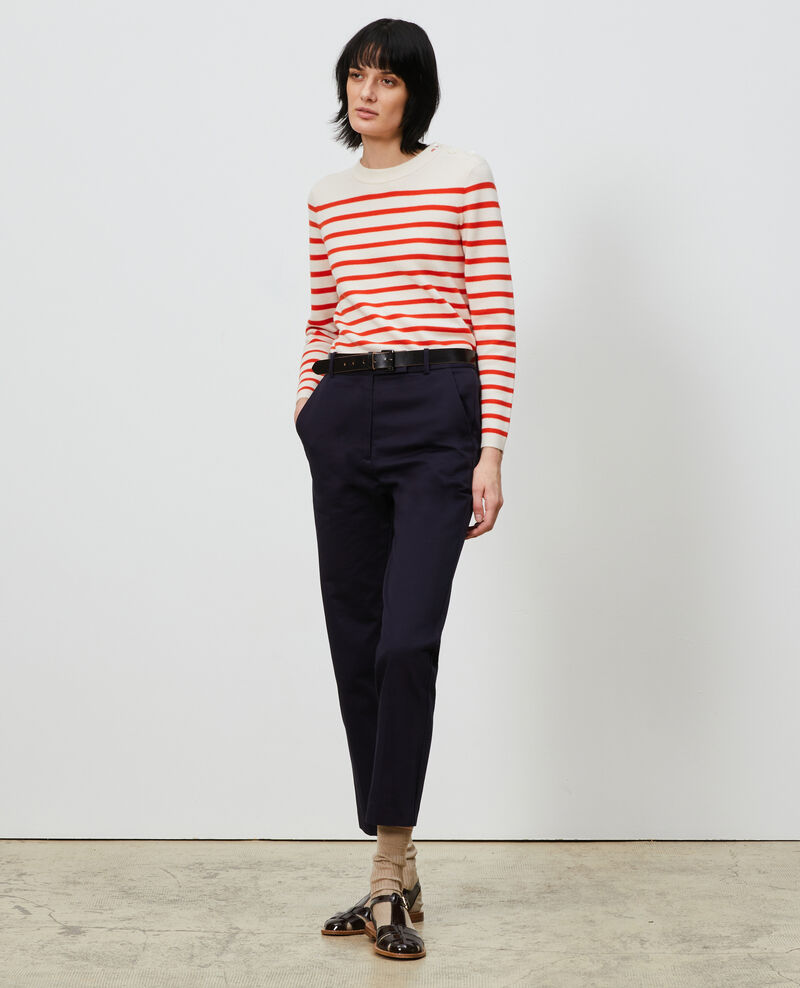 MADDY - Striped wool jumper Stp_grdn_spicy Liselle