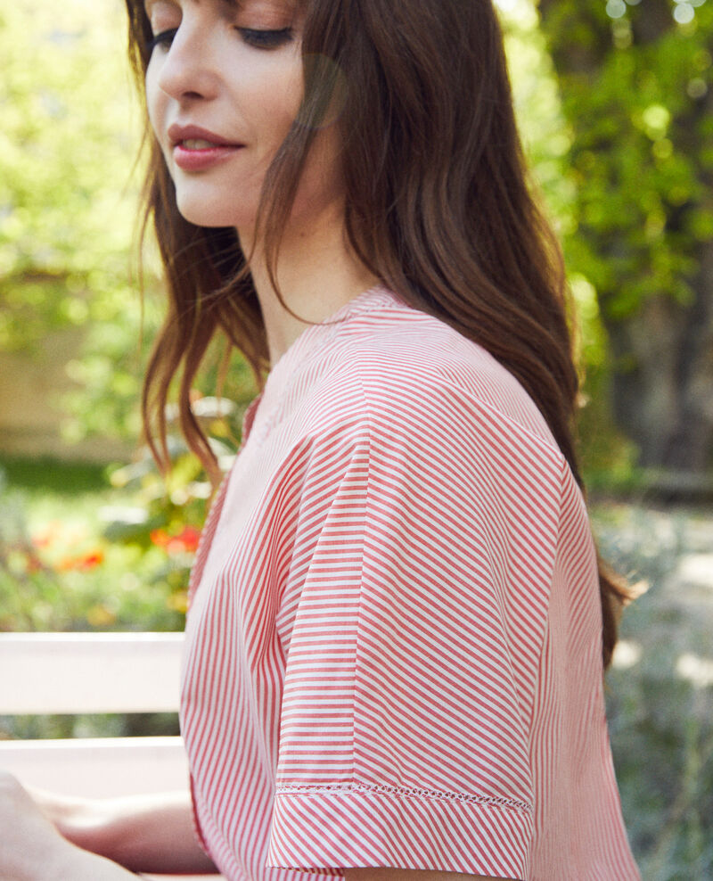 Striped blouse Ss molten lava Jirond