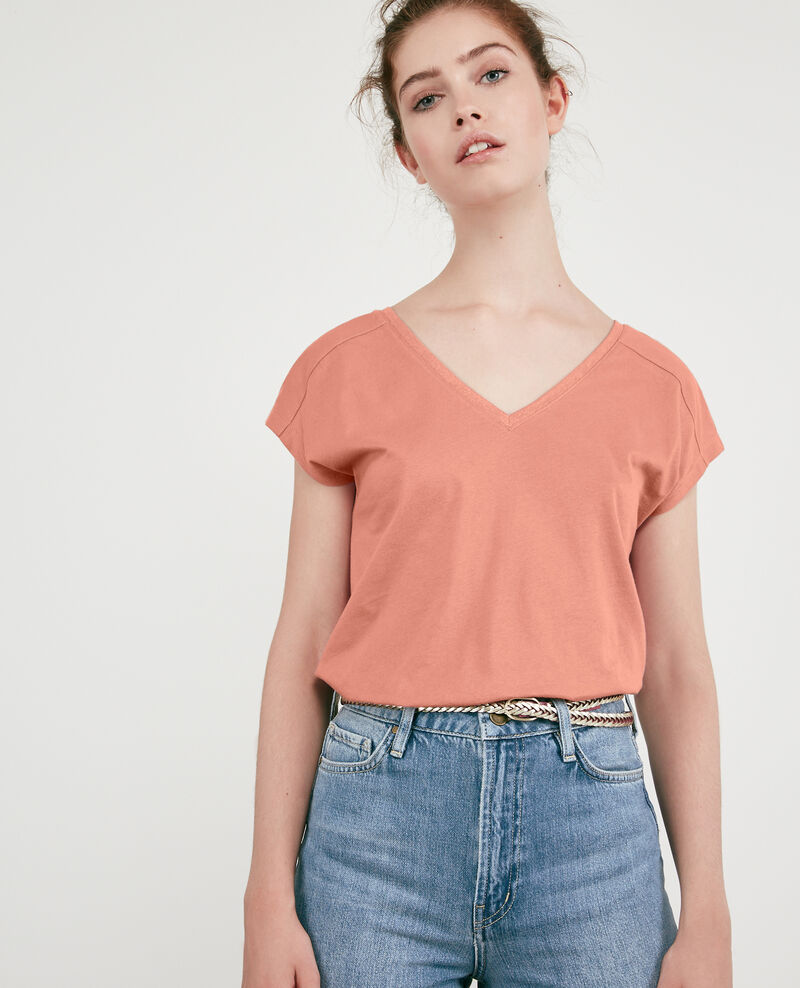 T-shirt with detail lurex inlay Pink Dactylo