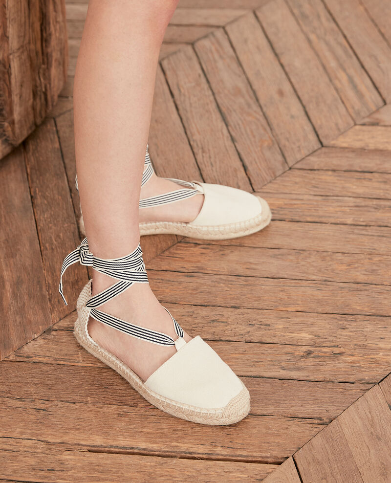 Flat espadrilles Ecru/sailor stripes Ferret
