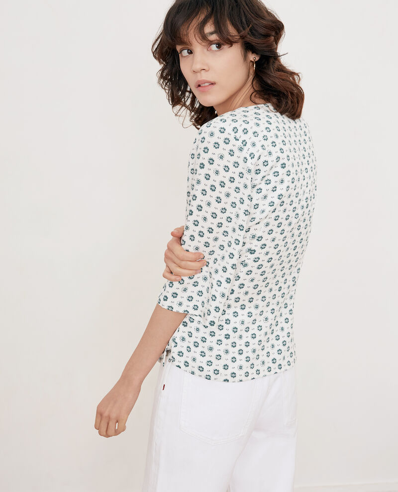 Printed blouse with buckle Dandelion kaolin Fanelie