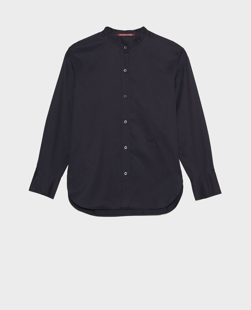 Round neck cotton shirt Night sky Mannion