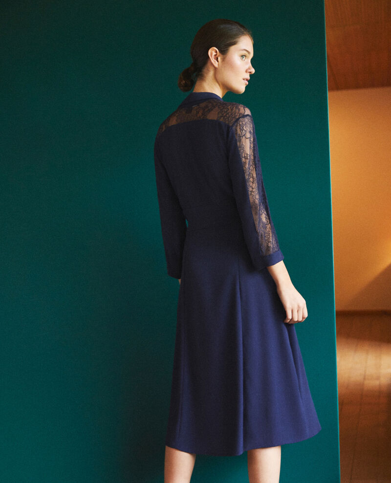 Dress with lace Blue Forte