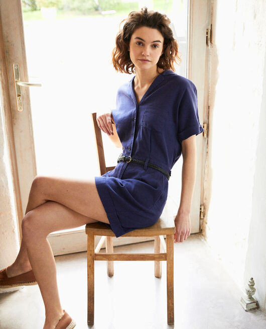 Tailored collar playsuit SAPPHIRE NAVY