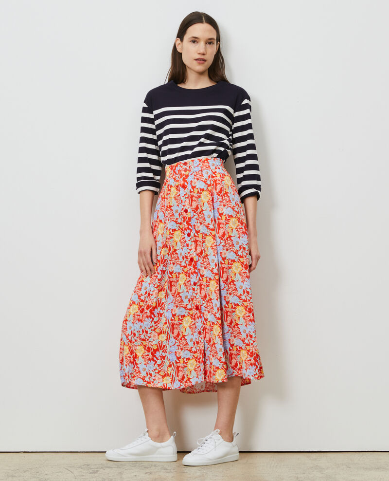 Mid-length skirt Ete red small Nanthiat