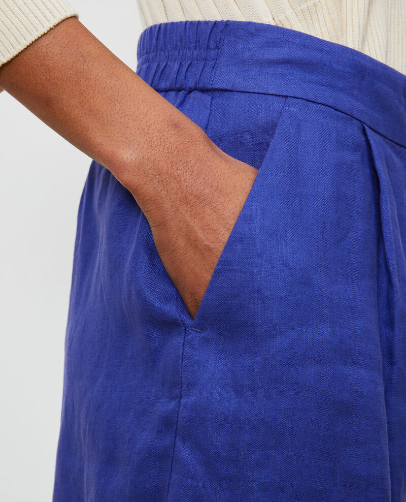 Linen shorts Royal blue Navillien