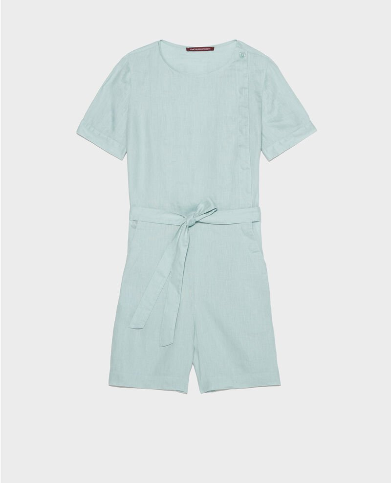 Linen playsuit Blue haze Lariona